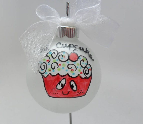 "Hand made Personalized ""Hi Cupcake"" Christmas Ornament"