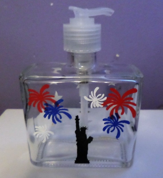 Hand Painted 4th of July Celebration Soap/Lotion