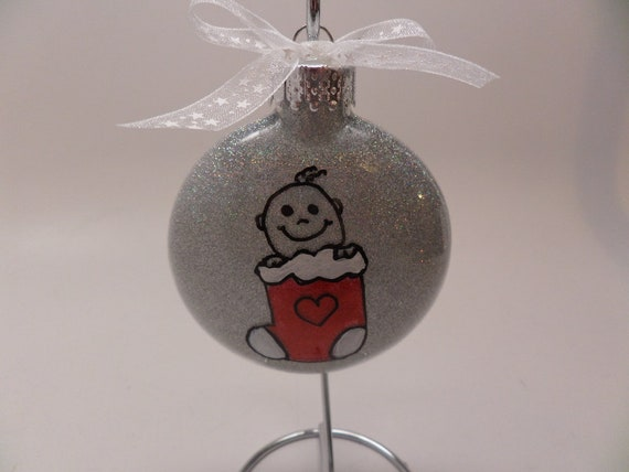 Baby in Stocking Christmas Ornament Personalized Free
