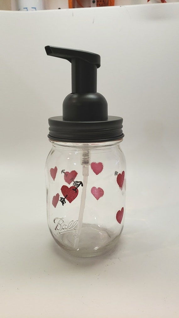 Hand Painted Foaming Soap Dispenser for Valentine's Day