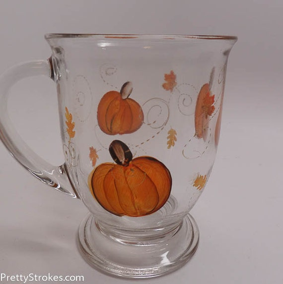 Hand Painted Coffee/Tea Mug - 16 oz Fall Pumpkin Mug