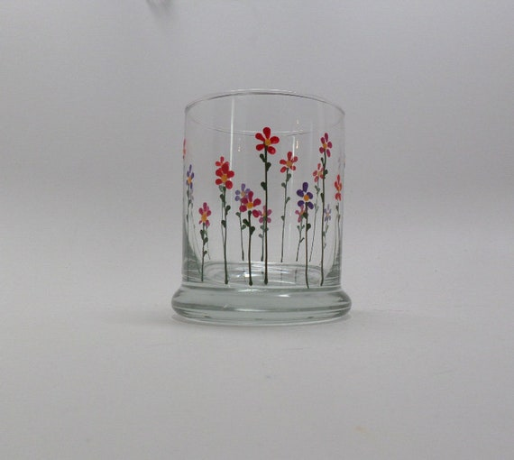 Hand Painted Spring Flower Candle Holder
