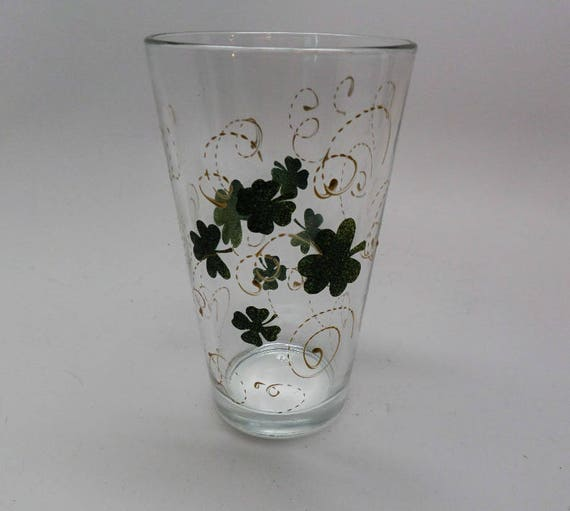 Hand Painted St. Patrick's Day Pilsner or Wine glass
