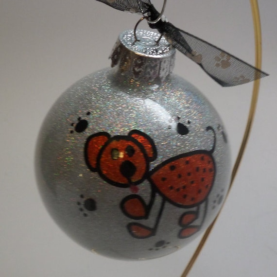 Hand Painted Personalized Ornament - Cat or Dog Ornament can be Personalized Free Shipping