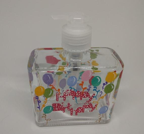 Happy Birthday Soap Dispenser Birthday decor