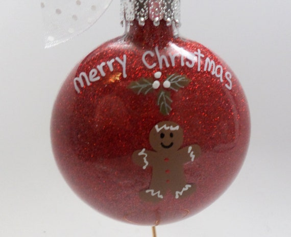 """Gingerbread Ornament """"Merry Christmas"""""""