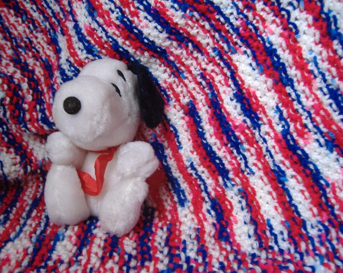 Red White and Blue Baby Blanket