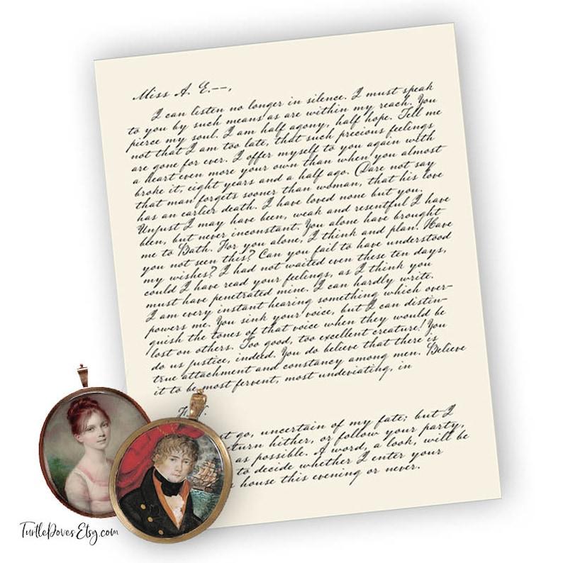 Captain Wentworth's Love Letter  8 x 10  Digital image 0