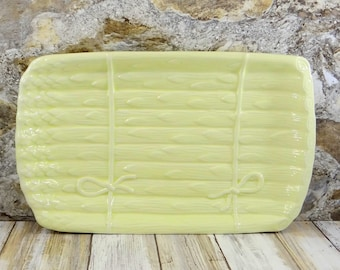 Vintage Asparagus Serving Tray by Faiancas Neto & Gomes, Portugal