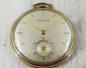5e342827d Vintage Pocket Watch by Bulova Circa 1940s