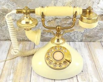 Mid Century French Style Rotary Phone, Contessa Phone