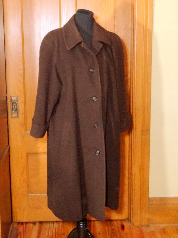 Vintage Albert Nipon Cashmere and Wool Coat