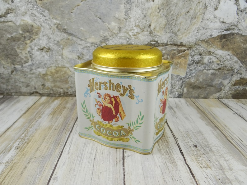 Vintage Hershey/'s Cocoa Tin by Bristol Ware 1980s