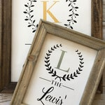 Family Last Name Established Year Wood Frame Wall Sign•Personalized Wedding•Anniversary•Bridal Shower•Engagement•Married Couple Gift•Present