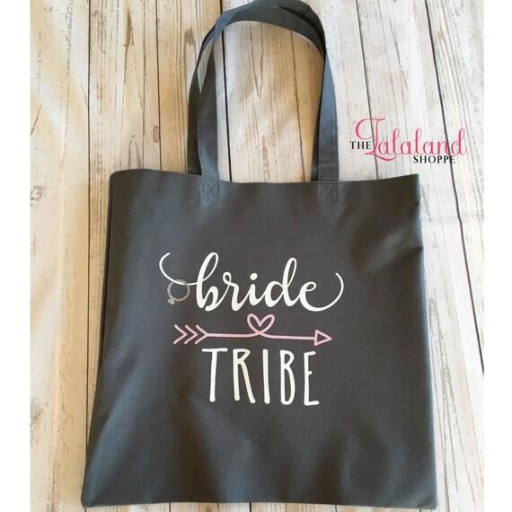 7e5ef2f66fd5 Bride Tribe Canvas Tote Bag Bridesmaid Bachelorette Party