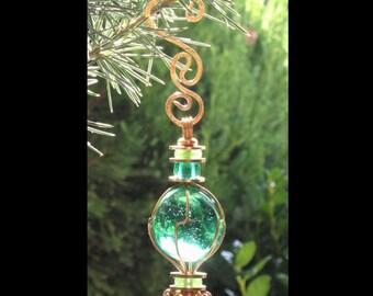 Christmas Ornament Sea Green Ornament Small Suncatcher