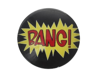 2 BANG! Super Action Hero Glass Dome Cabs Cabochons Cameos, 25mm, 2 Pieces, B