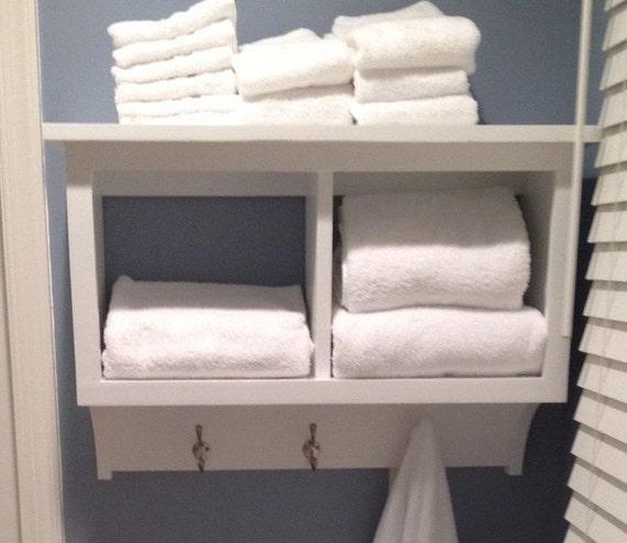 Shelf Bathroom Storage Cabinet Wall, Bathroom Cabinet With Towel Rack