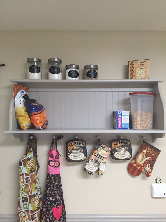 Kitchen Cabinet Wall Hanging Kitchen Pantry Storage Wall Shelf with Shaker  Pegs