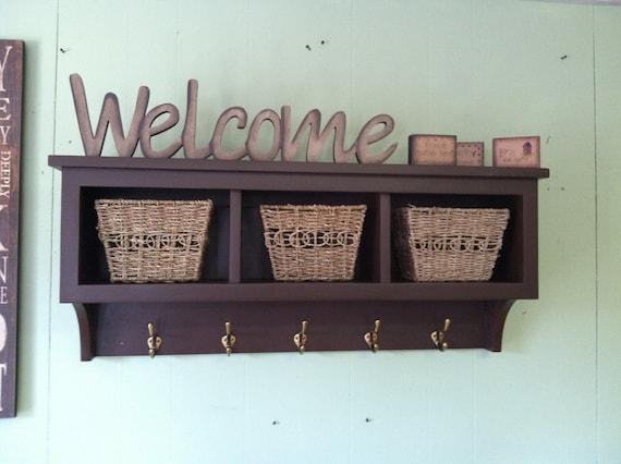 quality design 1a226 42005 Entryway Storage Wall Shelf With Coat Hooks Hallway Coat Rack - Entryway  Rack and Shelf