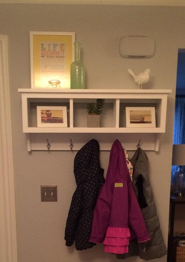 Cubby Wall Shelf Country Shelf for Baskets Bath Or Entryway W | Etsy