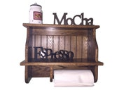 Paper Towel Cabinet for the Wall Country Kitchen Wall Hanging Shelf with Paper Towel Rack