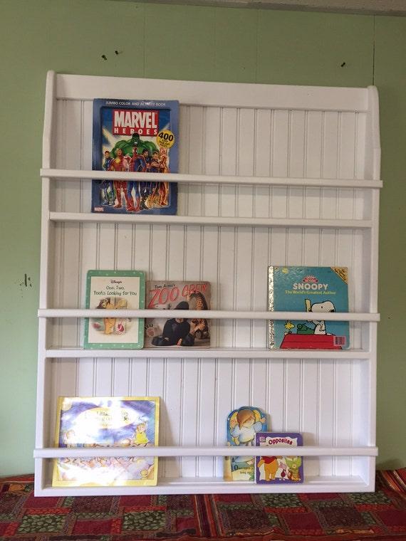 Hanging Wall Bookshelf Wood Plate Rack And