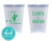 Fiesta Like There is No Mañana Cactus - 12 oz Frosted Cup Wedding Favors Fun Wedding Party Gifts Wedding Anniversary Party Gift Custom D107