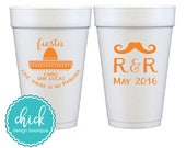 Fiesta Like There 39 s No Mañana - 20 oz Foam Cup Wedding Favors Fun Wedding Party Gifts Wedding Anniversary Party Custom Beverage D153