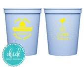 Fiesta Siesta Tequila Repeat - 16 oz Cup Wedding Favors Fun Wedding Party Gifts Wedding Anniversary Party Gift Custom Beverage D202