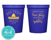Viva Fiesta Sombrero - 16 oz Cup Wedding Favors Fun Wedding Party Gifts Wedding Anniversary Party Gifts Custom Beverage D406b