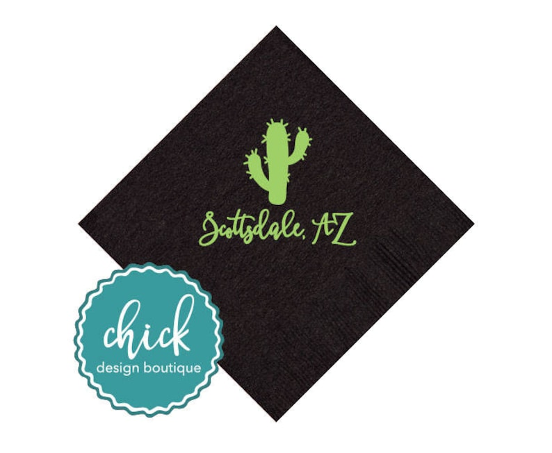Cactus /& Event Location Beverage Napkins Wedding Decor Fun Wedding Party Gifts Wedding Anniversary Party Gifts Custom Beverage 2D398A