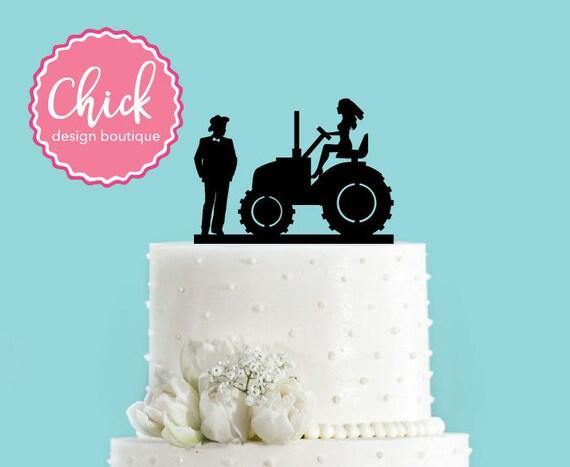 Land Hochzeitspaar Und Braut Auf Traktor Acryl Hochzeitstorte Etsy