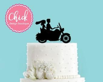 Motorcycle Bike Acrylic Wedding Cake Topper