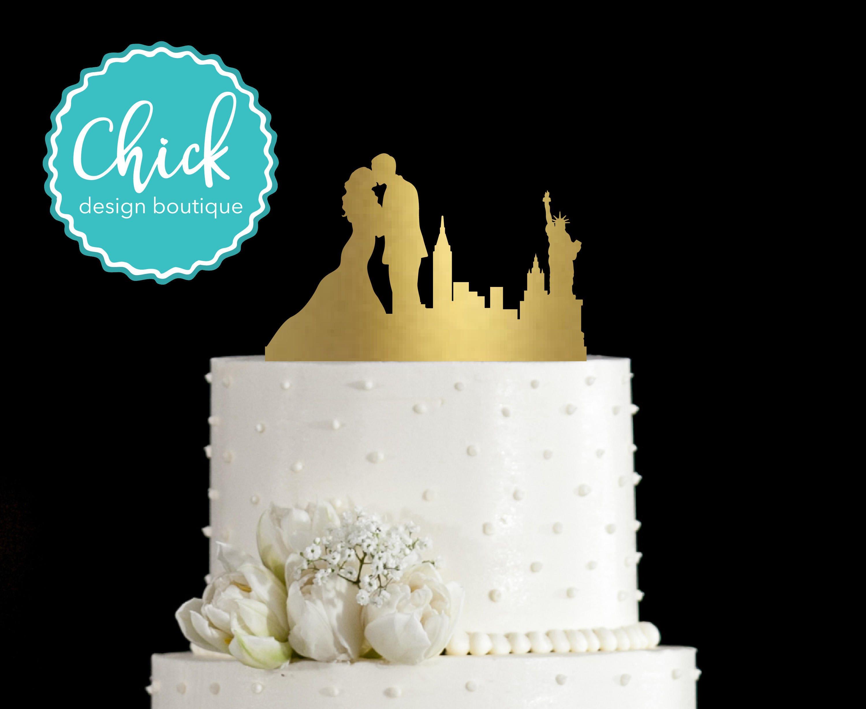 New York Skyline Personalised Acrylic topper Birthday cake Topper.323