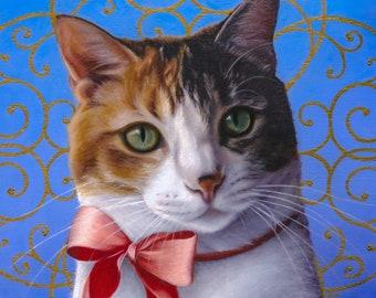My Muse  -  Blank Card of Original Oil Painting by Nancy Cuevas