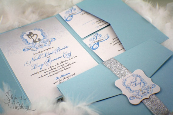 Fairy Tale Wedding Invitations Whimsical Shimmery Romantic