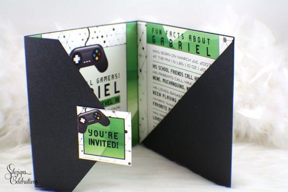 Video Game Birthday Invitations
