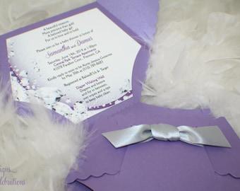 Diaper Baby Shower Invitation or Baby Announcement - Diamonds Theme