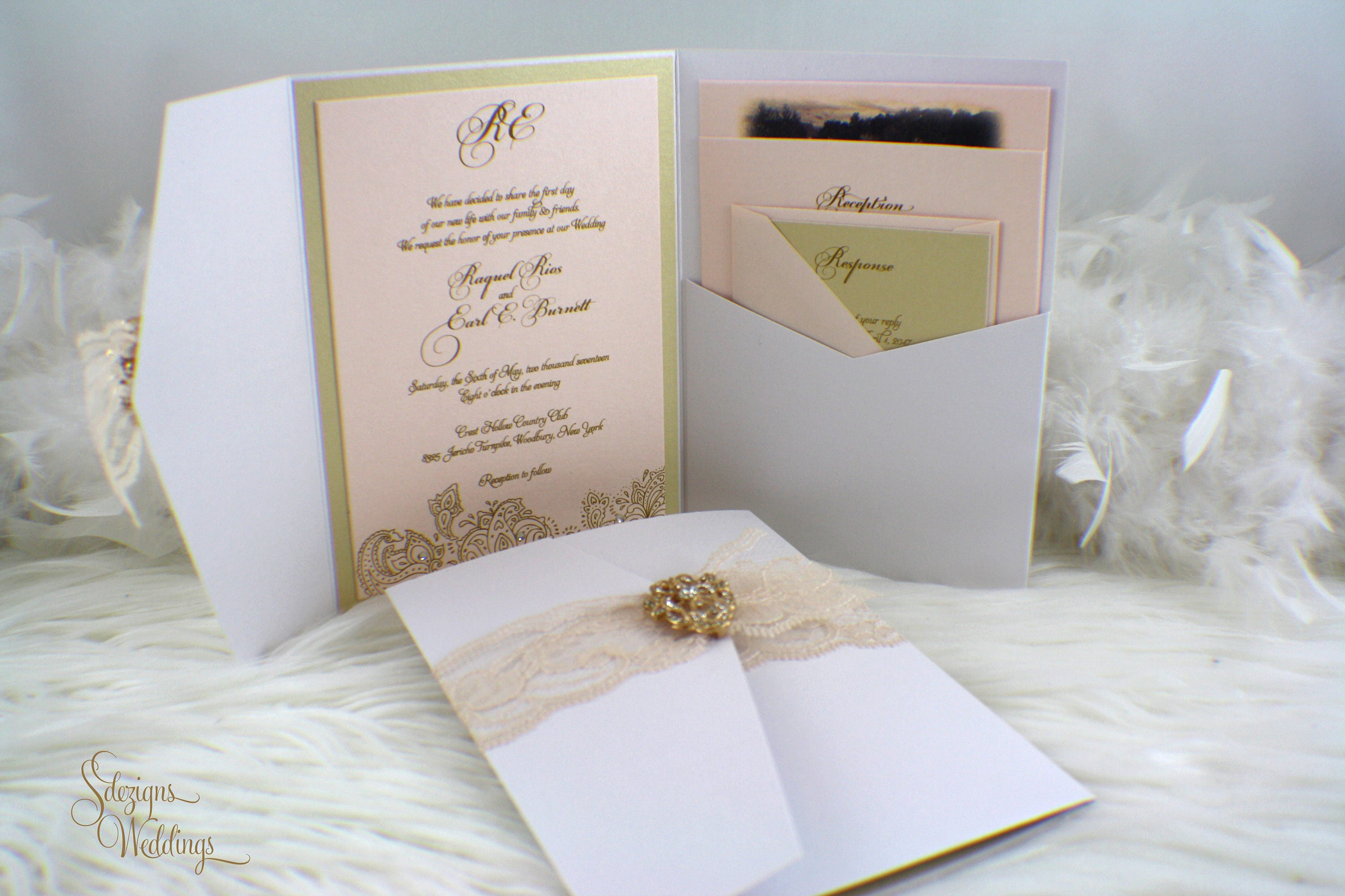 50: Vintage Wedding Invitations With Lace At Websimilar.org