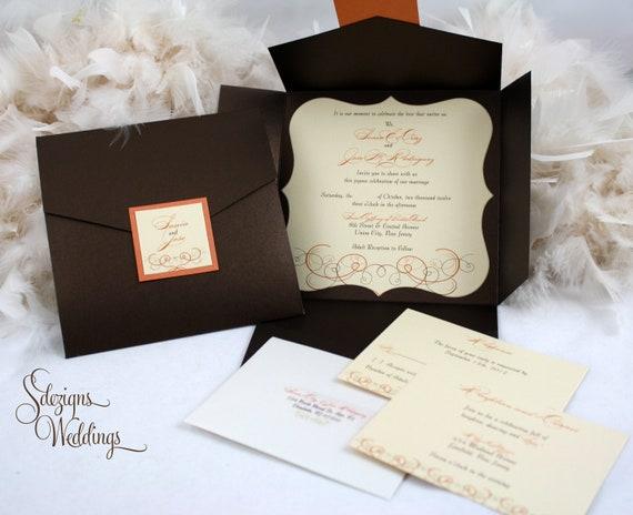 Autumn Wedding Invitation Fall Wedding Invitation Etsy