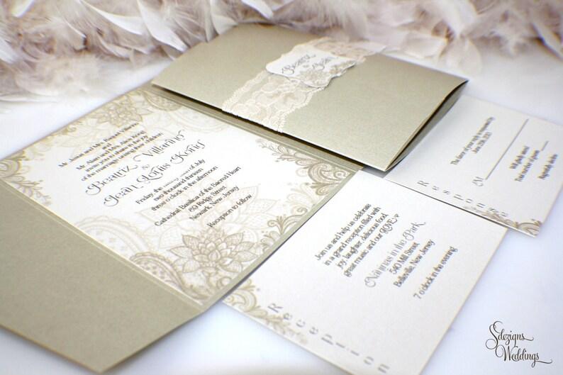 Beautiful Lace Wedding Invitations