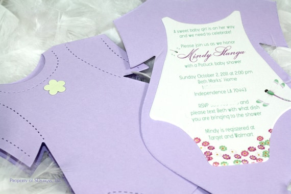 Dragonfly Baby Shower Invitation