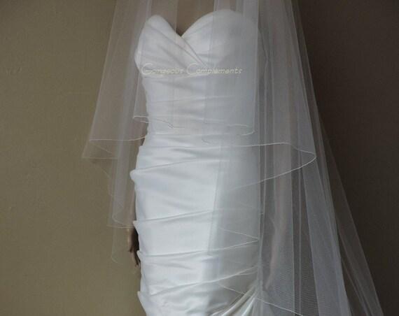 Gorgeous Chapel Drop Bridal Veil with Pencil Edge, Bridal Veil  DC30/90CE
