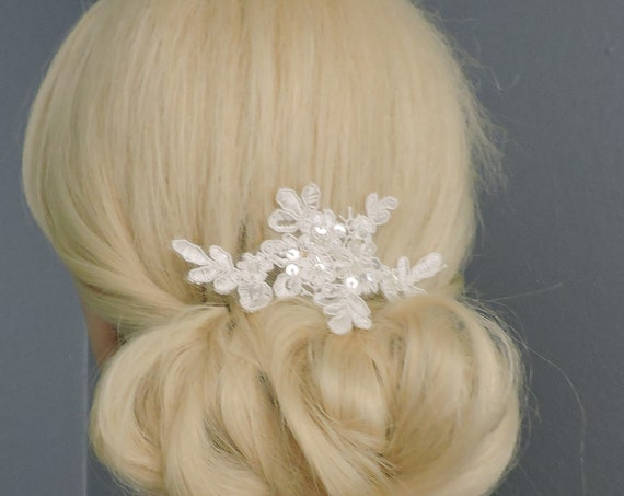 Alencon Lace Head Piece, Lace Bracelet or Add to Your Veil