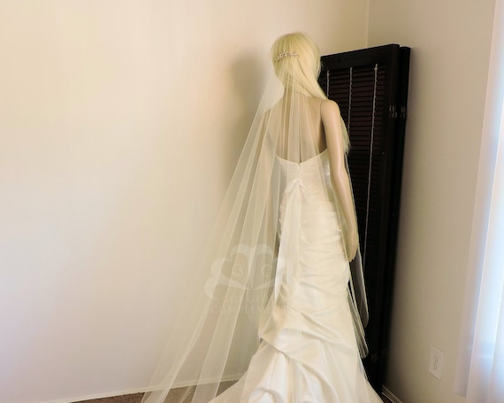 Twitlight Veil with Decorative Comb Bridal Wedding Veil