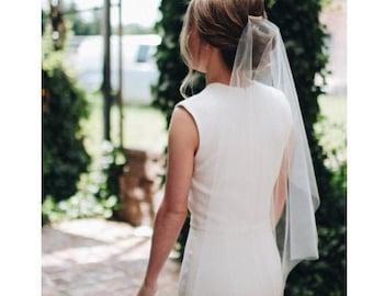 Wedding Veil Simplicity, Veil Cut Edge, Bridal Veil Minimalist