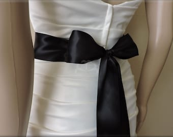 Bridal Sash Double Face Satin Ribbon 2 1/4 Inches Wide 2 1/2 yds to 5 1/2 yds Long