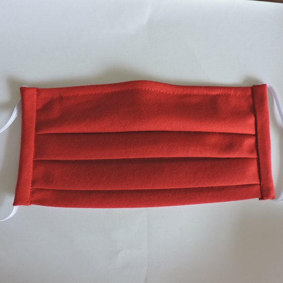 Red Breathable Cotton Face Mask/ Reusable Mask / Dust Mask Cover / Washable Face Mask / Adult Mask / Kid Mask/