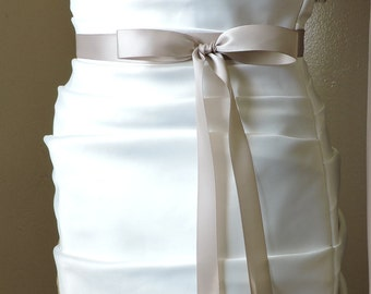 """Bridal Sash Double Sided Satin Ribbon 7/8"""" Wide -from 2 1/2 to 4 yards Long"""